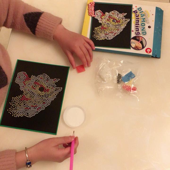 Artesanato DIY pintura pelo número da etiqueta do Diamante De plástico para o miúdo com cavalo