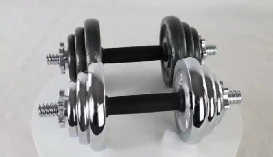 Used Cast Iron Dumbbells Cheap Dumbbell Sets For Sale 15Kg 20Kg 30Kg 50Kg 7 Layer Electroplating