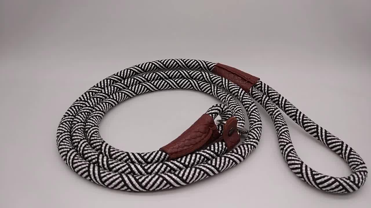 Pabrik langsung dikepang tali katun tali tali anjing tali anjing dan kerah jalinan kulit anjing kerah dan kalung anjing