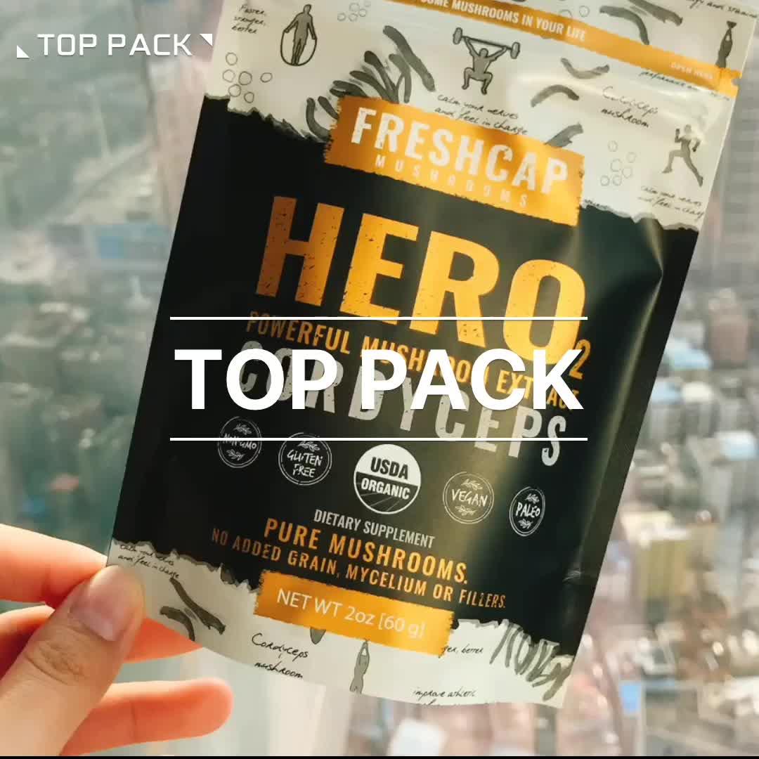 Custom snack ziplock plastic dried fruit package bag with logo