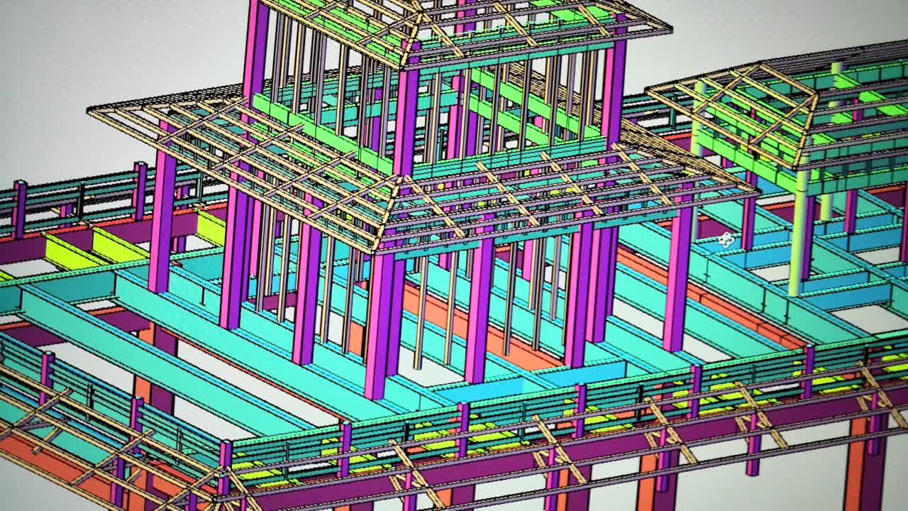 heteromorphic high difficulty steel structure prefab workshop design