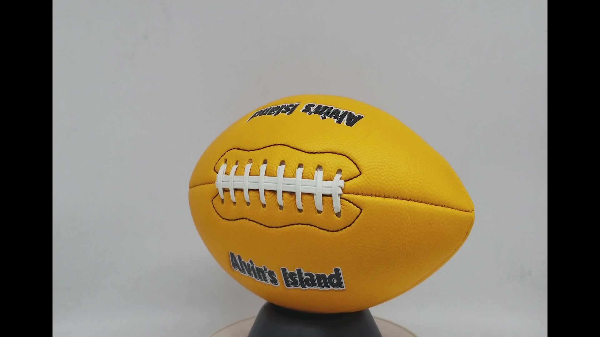 Good quality custom logo foam pvc inflatable american football size 3