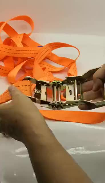 All Type Polyester Webbing Ratchet Tie Down Lashing Strap
