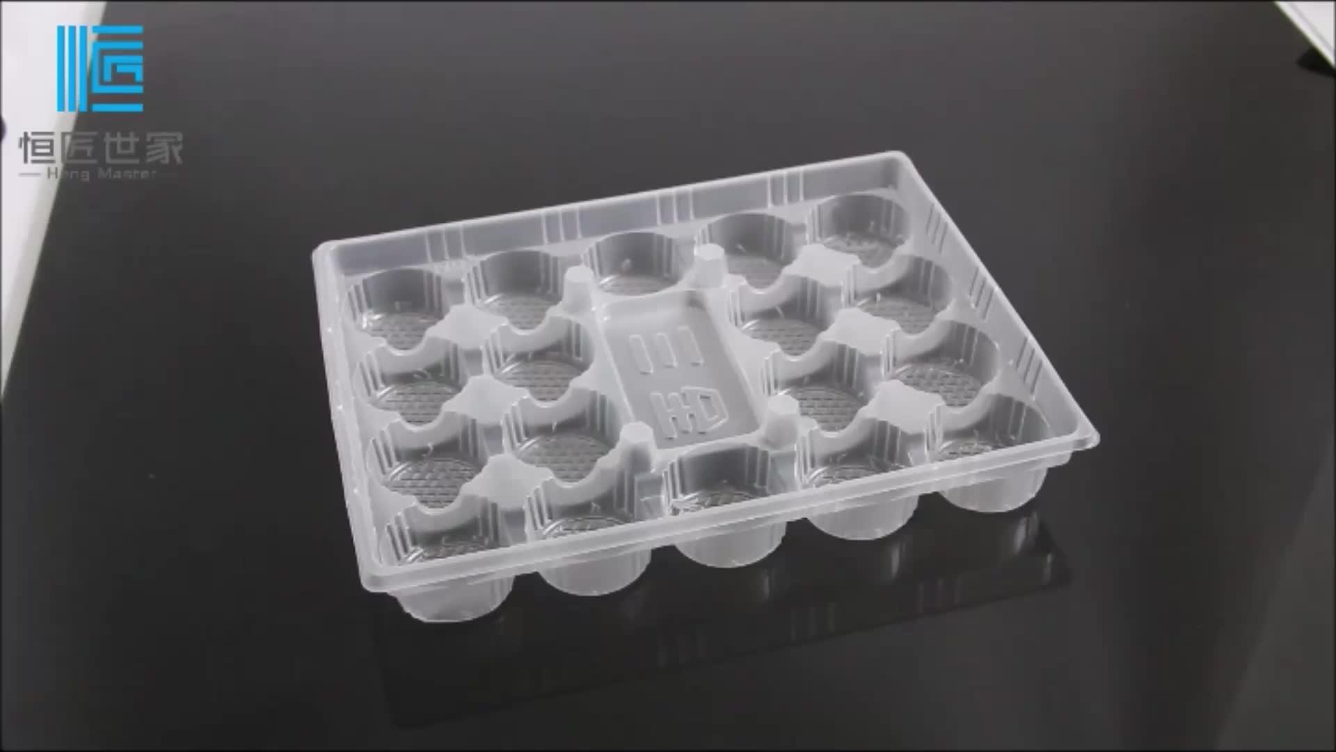 Biyobozunur ticari plastik dondurulmuş gıda tepsisi ambalaj