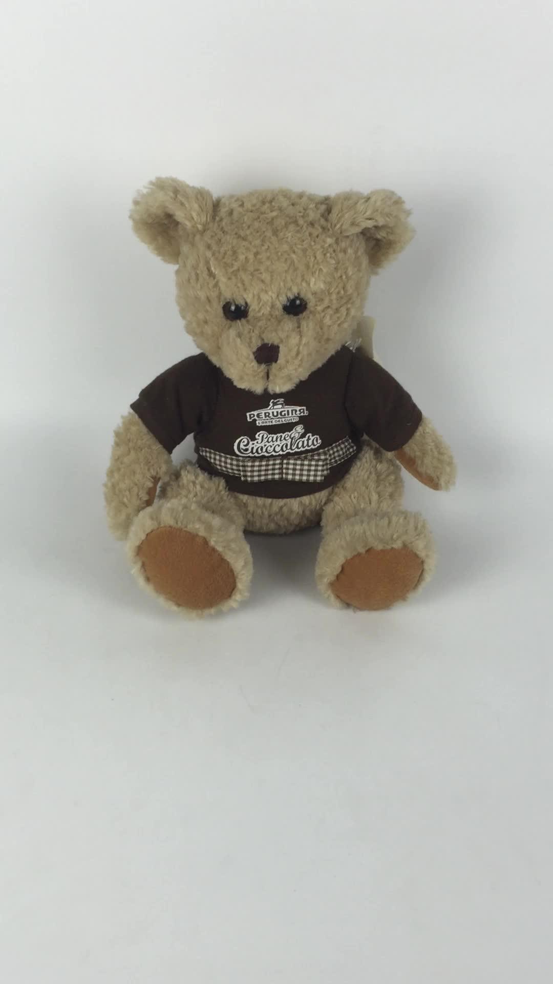 Schöne plüsch teddybär tragen t-shirt mit custom logo