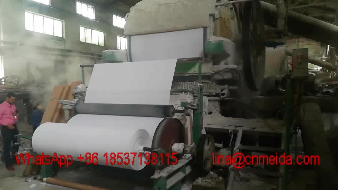 Yüksek kaliteli pirinç saman jumbo rulo mini küçük peçete tuvalet kağıdı yapım makinesi fiyat