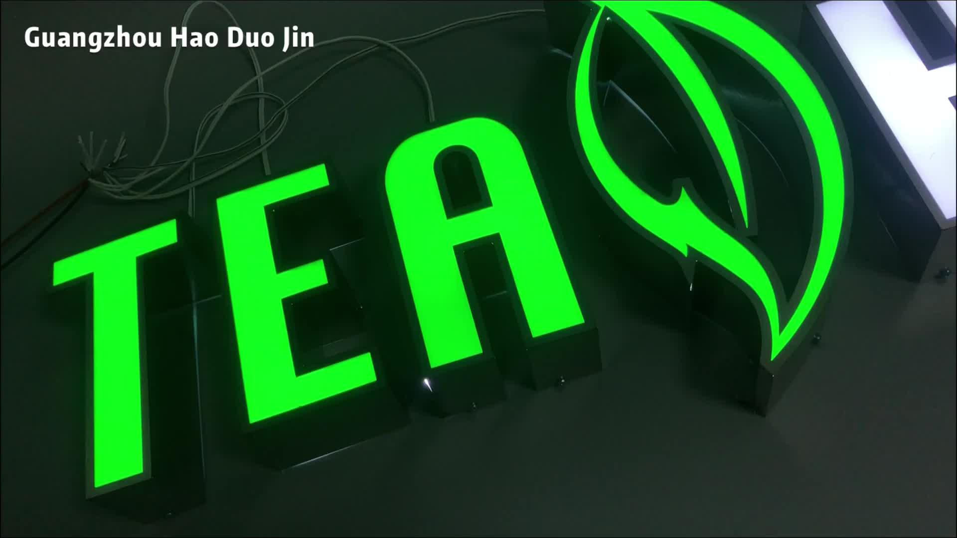 Dimensional Big Letters Signage Boundless Aluminum Blister Light Bangkok Sign Manufacture Led Letter Sign