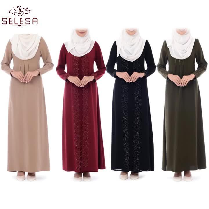 Fashional शैली इस्लामी कपड़े भव्य गर्म बिक्री आधुनिक इंडोनेशिया के साथ मुस्लिम Abaya पोशाक Baju Kurung Kebaya