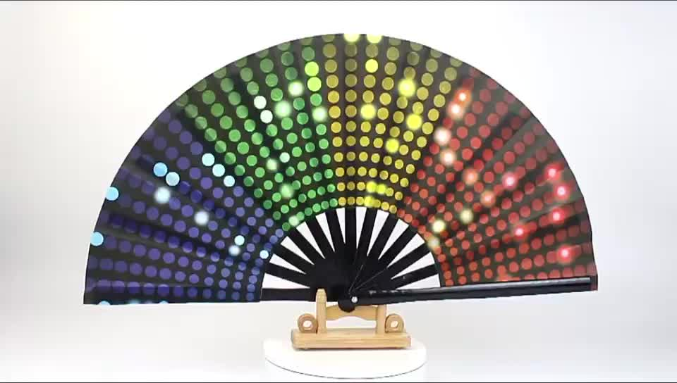 Large Hand Fan Product Type and Painted Technique Bamboo Fans