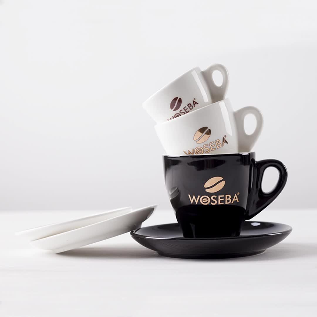 2/5/8 oz vintage royal gift box custom gold foil logo demitasse ceramic cappuccino latte espresso coffee cup saucer set