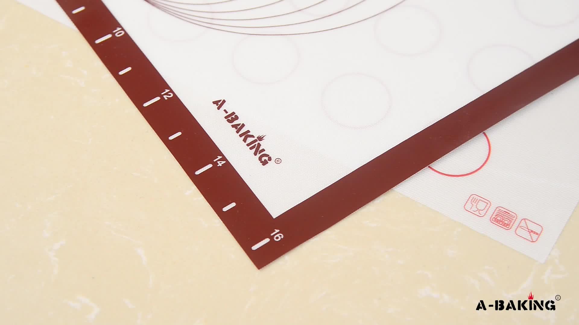 30x40cm Silicone Cuisson Tapis de Pâtisserie Avec Des Mesures Pour Rouler Pizza, Tartes, cookies et Feuilles de Pâte