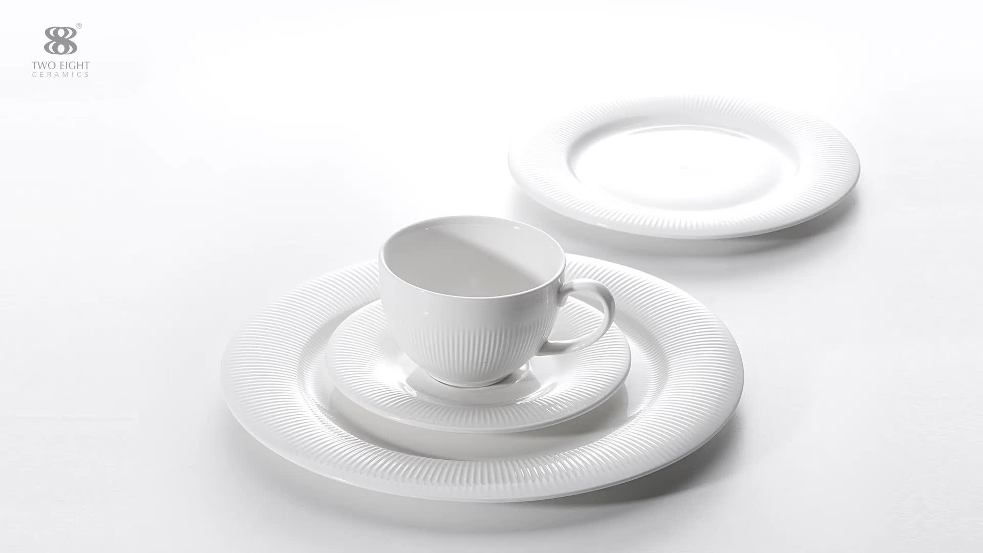2019 Hot High Quality Durable Hotel Dinnerware, English Style Porcelain Dinnerware Set, Design Your Own Porcelain Dinnerware