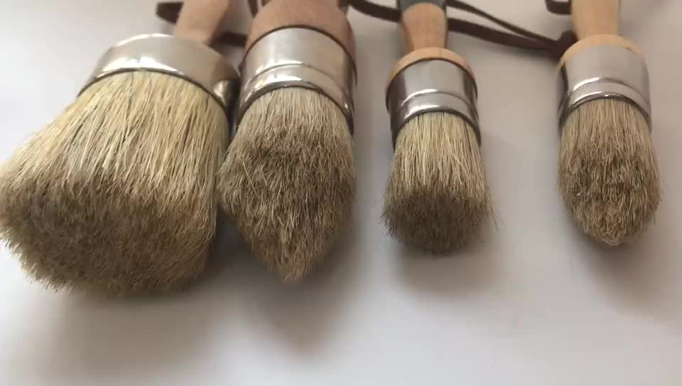 Discount annie sloan chalk paint brush set with wood handle
