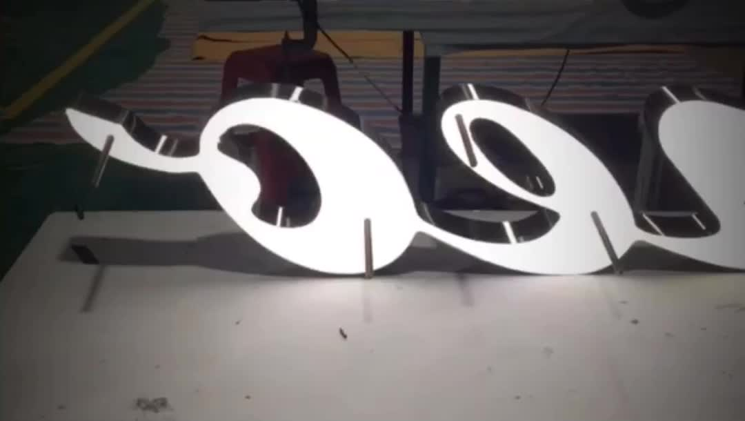 Custom Advertising Diy Back Lit Led Brushed Stainless Steel Alphabet Channel Letters for Signs