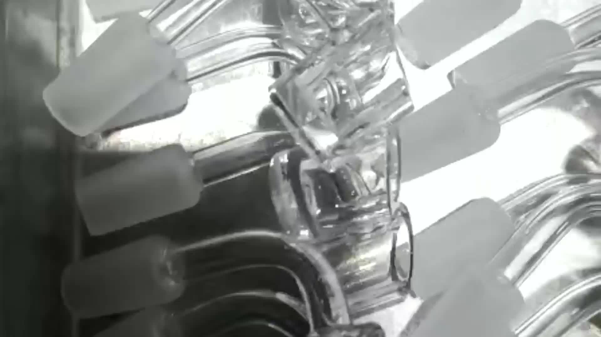 Transparent clear quartz glass tube