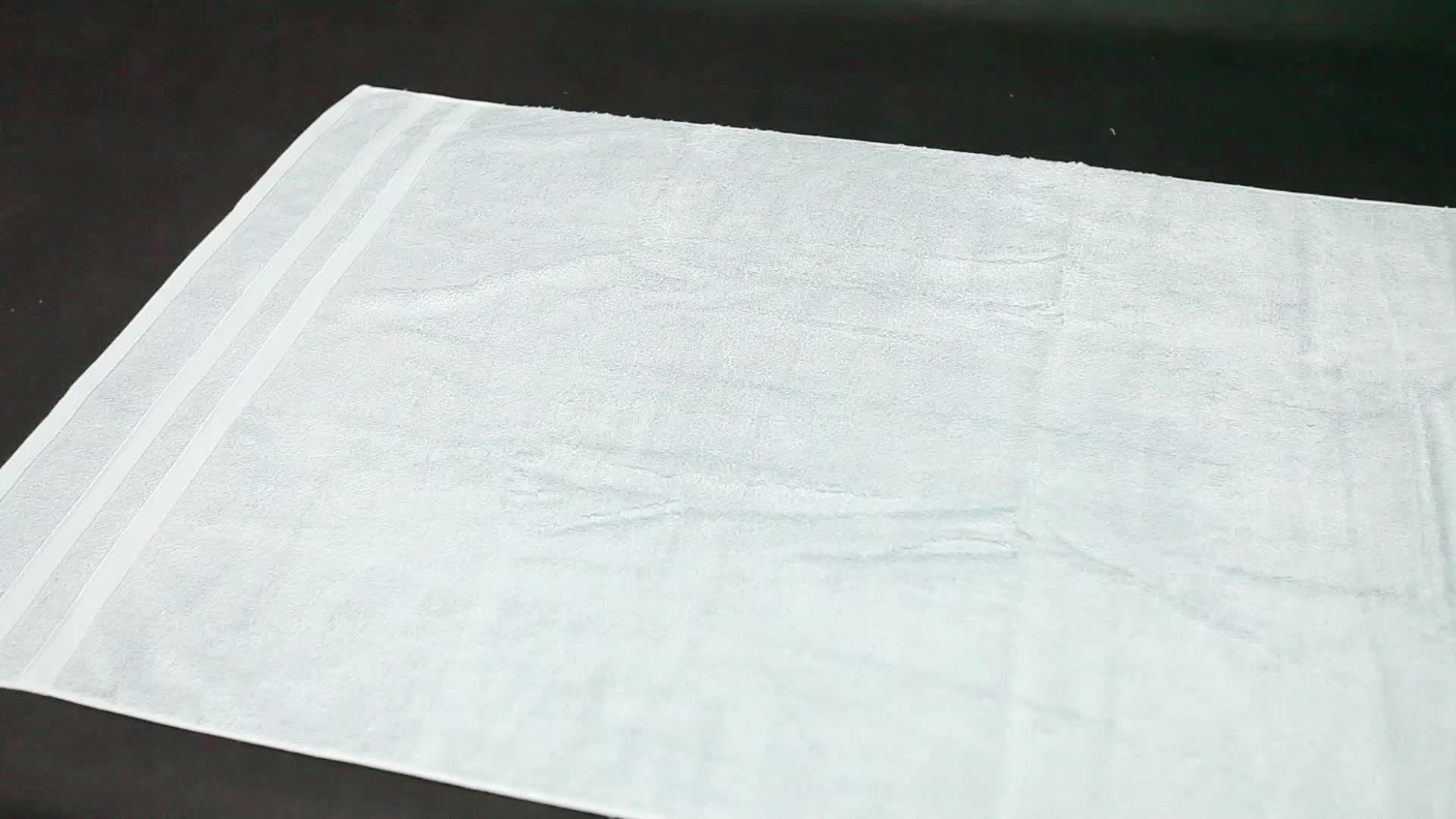 100% coton 21 s/2 serviette de bain, serviette de toilette, serviette ensemble en gros