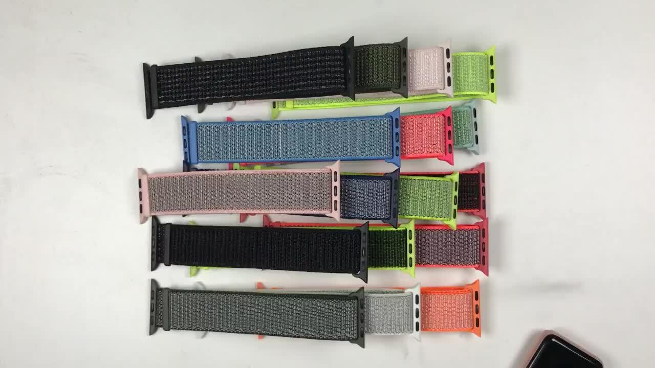 2019 Màu Sắc Mới Cho Apple Ban Nhạc Đồng Hồ 42mm 38mm Dệt Vải Nylon Dây Đeo