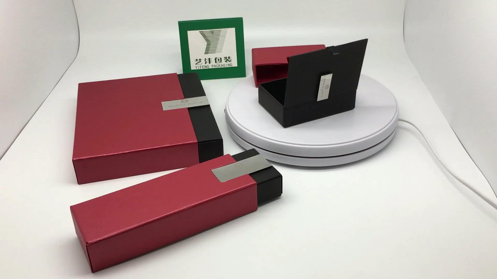 Yifeng orange Custom hanging bow Tie Box Scarf Box Packaging