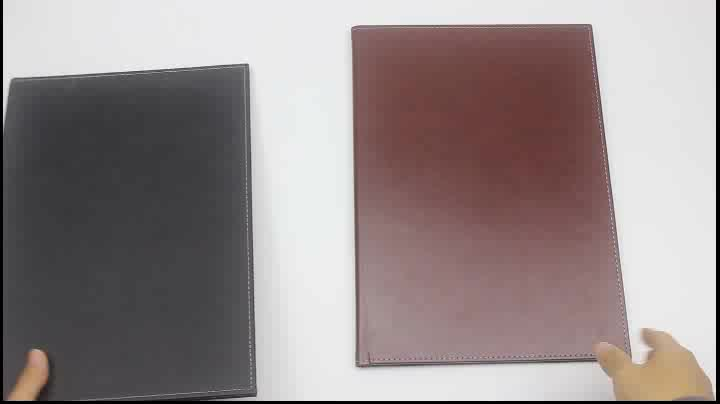 Restaurant Menu Folder with PU Leather Cover Holder for A4 Size