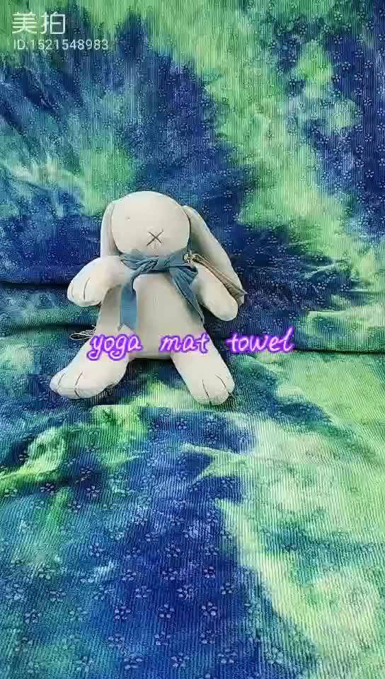 Tie dye yoga microfiber towel with silicon dots