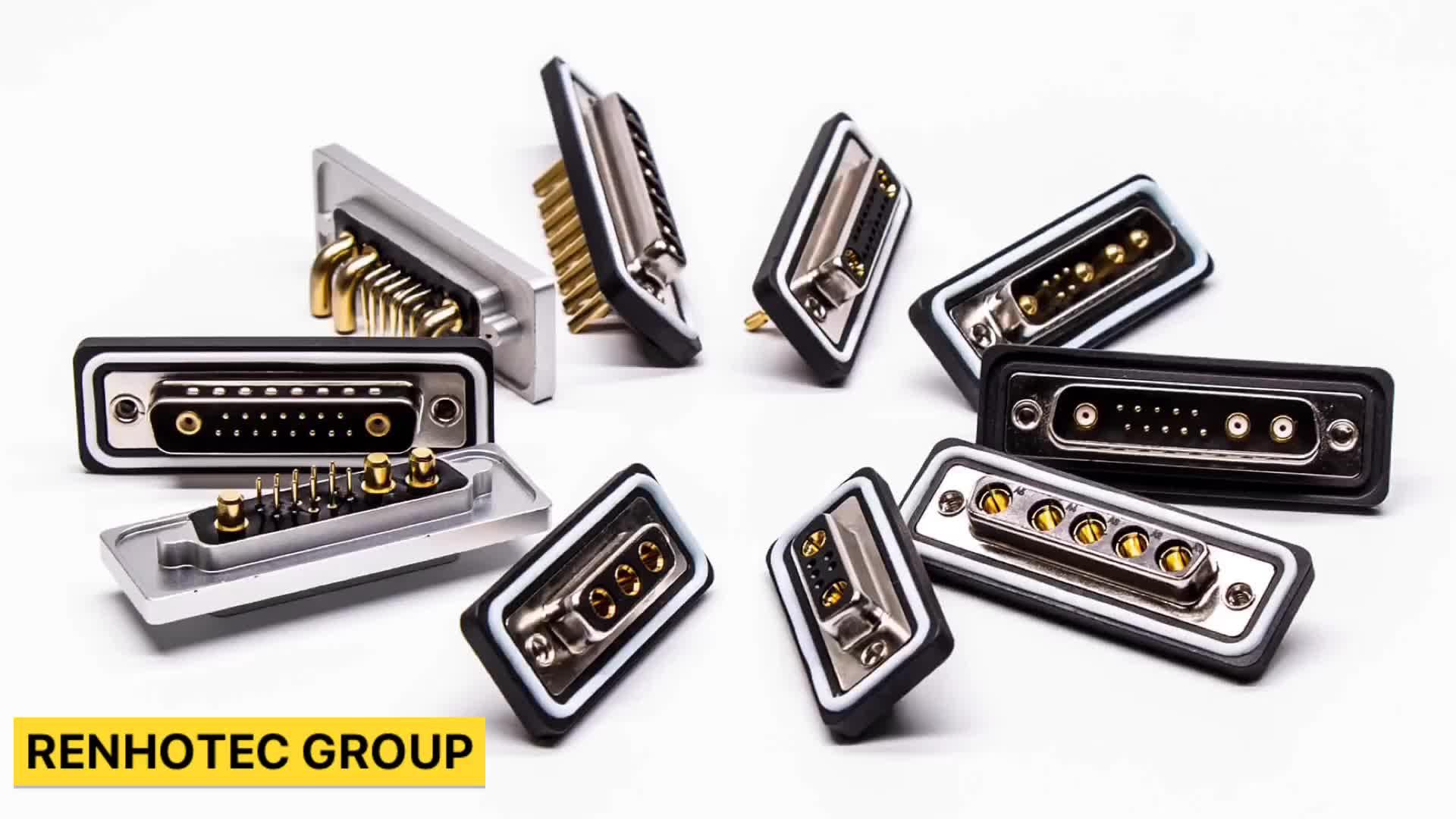 Front Open Screwlock Harpoon Plug Vertical 9 Pins D-Sub Connector