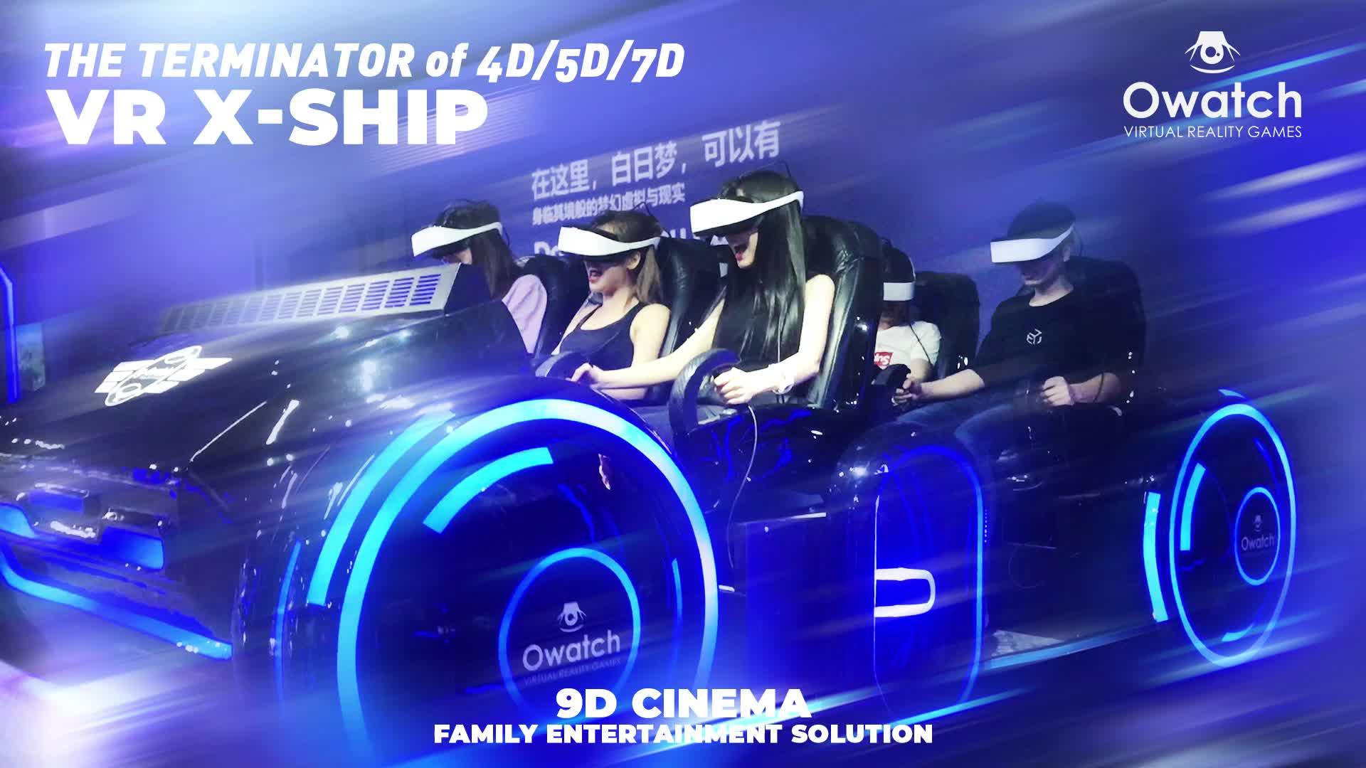 Owatch - Playground Equipment Simulator Virtual Reality Shooting Game Movies VR Tank 6 Seats