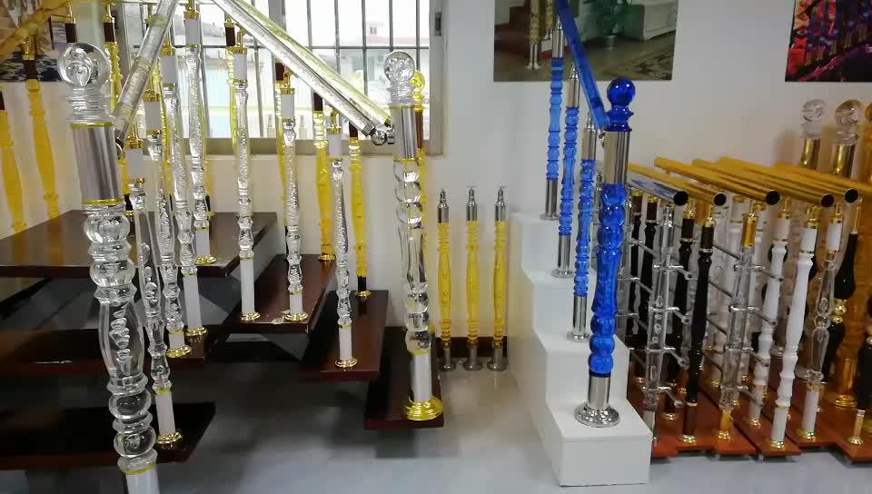 Modern design yellow solid acrylic rod handrail pillar