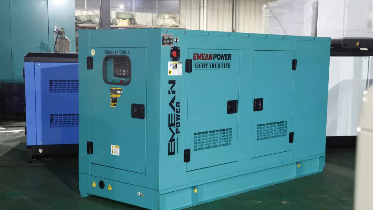 diesel silent generator with acoustic box 40kva soundproof diesel generator