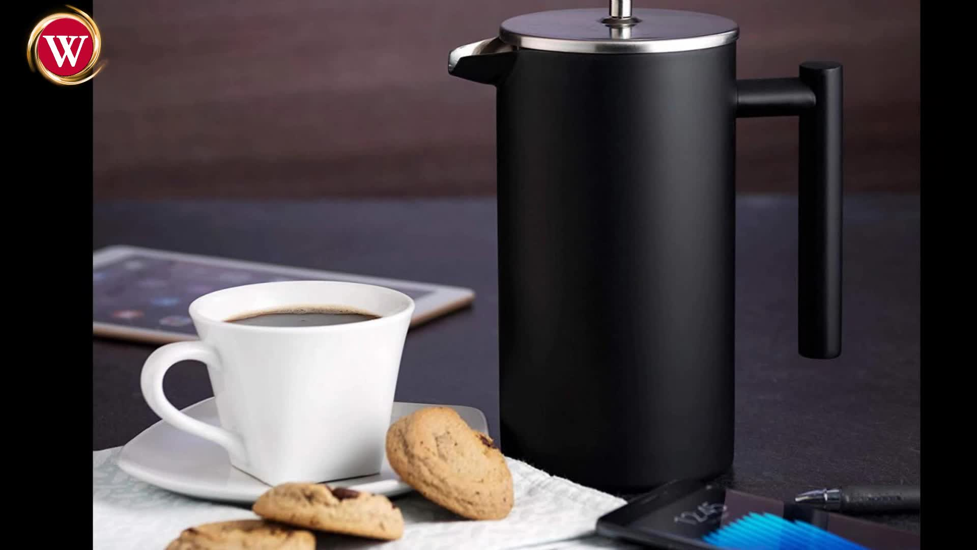 800ML/1000ML stainless steel double wall french press coffee maker