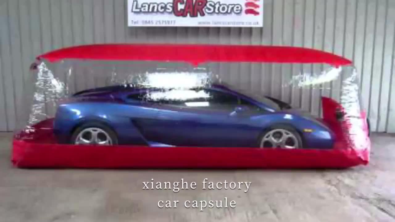 Easy set up auto bescherm storage bubble tent opblaasbare auto cover