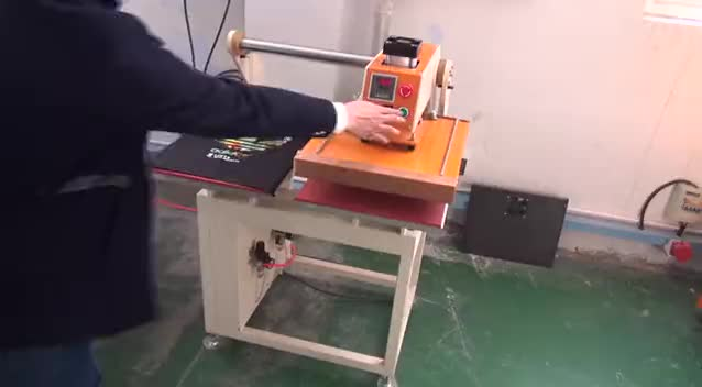 Semi Automatic Pneumatic Driving Double Station 40*50 Heat Press Transfer Machine For Printing Sales