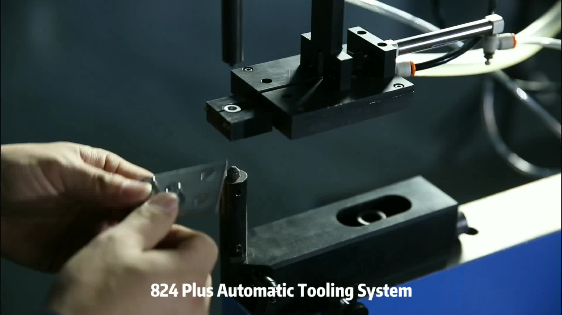100% Safety  824Plus Big Throat MSTP 33 kits Selectable Auto Bottom Feeding Tooling Fastener Insertion Machine