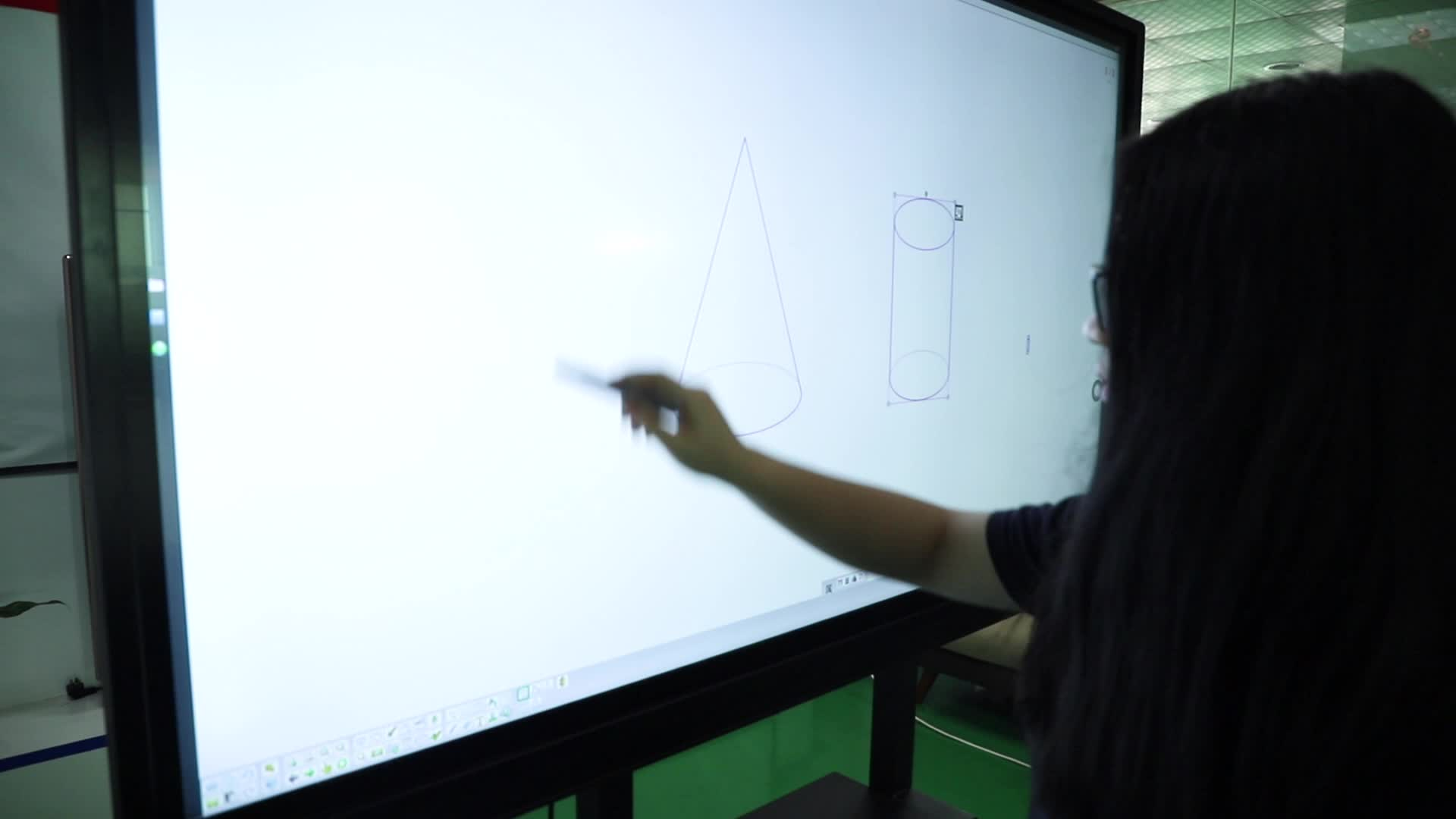 """86"""" 20 Point Infrared Free White Board Software Classroom Smart Whiteboard Tv 65'' Interactive Touch Panel"""