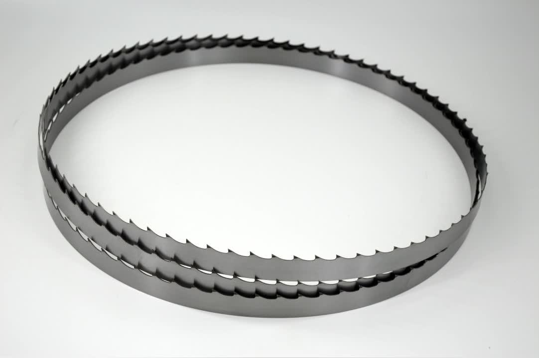 ハードカッティングスチールベルト硬化ログコイルバンドソー製材所ロールバンドソーブレード硬化歯付き