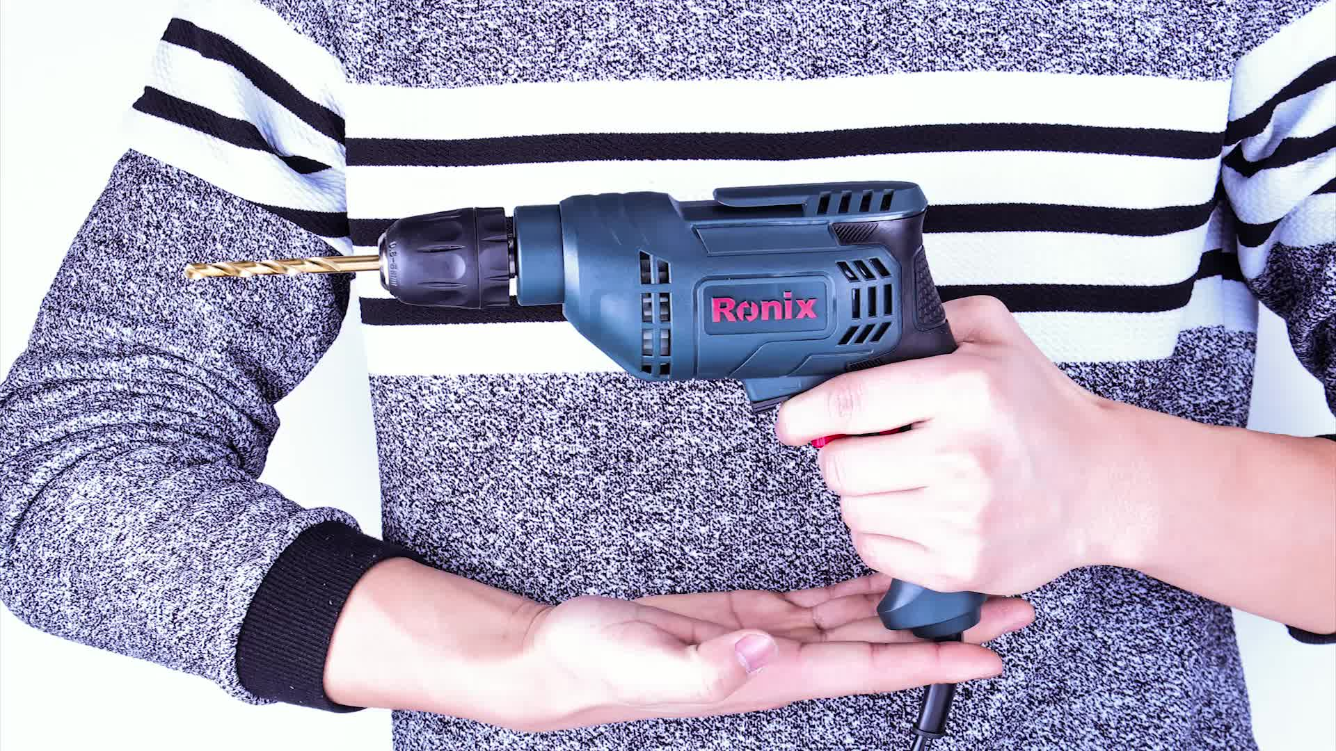 Ronix Latest High Quality 6.5mm Electric Drill 400W Corded Drill 2107A Power TOOL