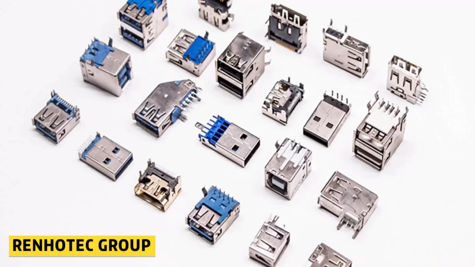 Buchse 90 Grad Flagge Typ Durch Loch USB Typ C Stecker