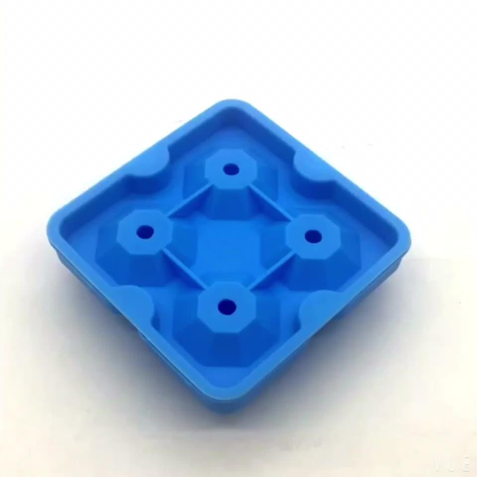 BPA Miễn Phí Dễ Dàng Phát Hành Kim Cương-Định Hình Silicone Ice Cube Khay