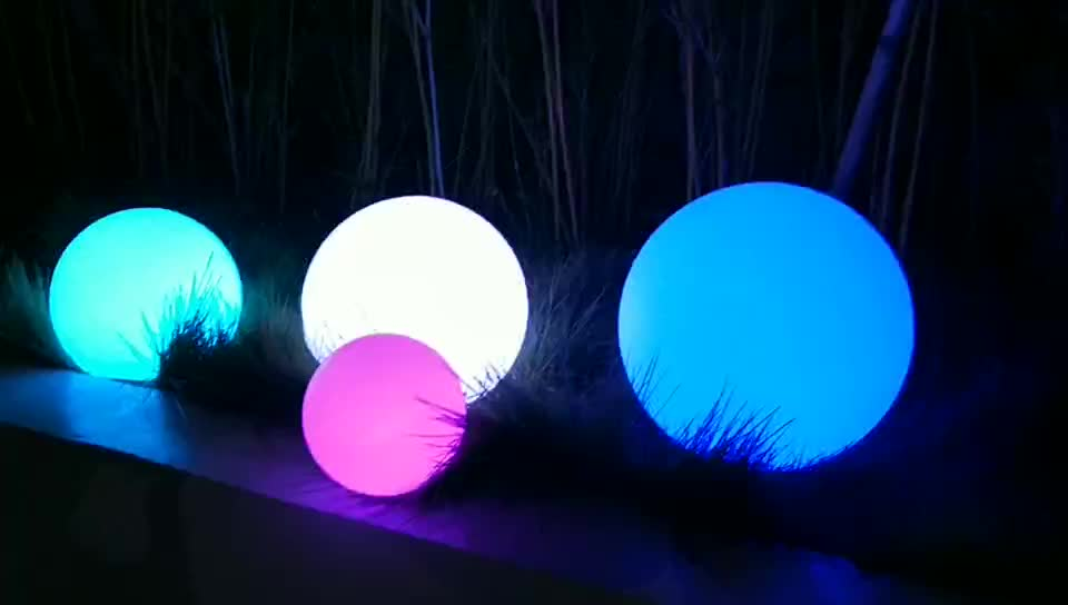 solar garden light rechargeable colour changing glow led ball light sphere lamp outdoor garden