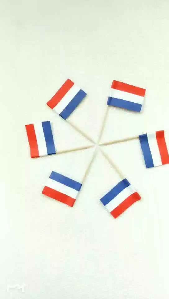 For Party /KTV  disposable  bamboo &  wooden toothpick flag/cocktail frilled tooth pick