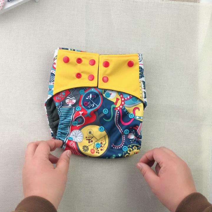 Couches Lavables Couches Lavables Imprimé Bébé Couches Pour Nouveau-nés Lavable Couche Culotte D'apprentissage Écologique Pantalon