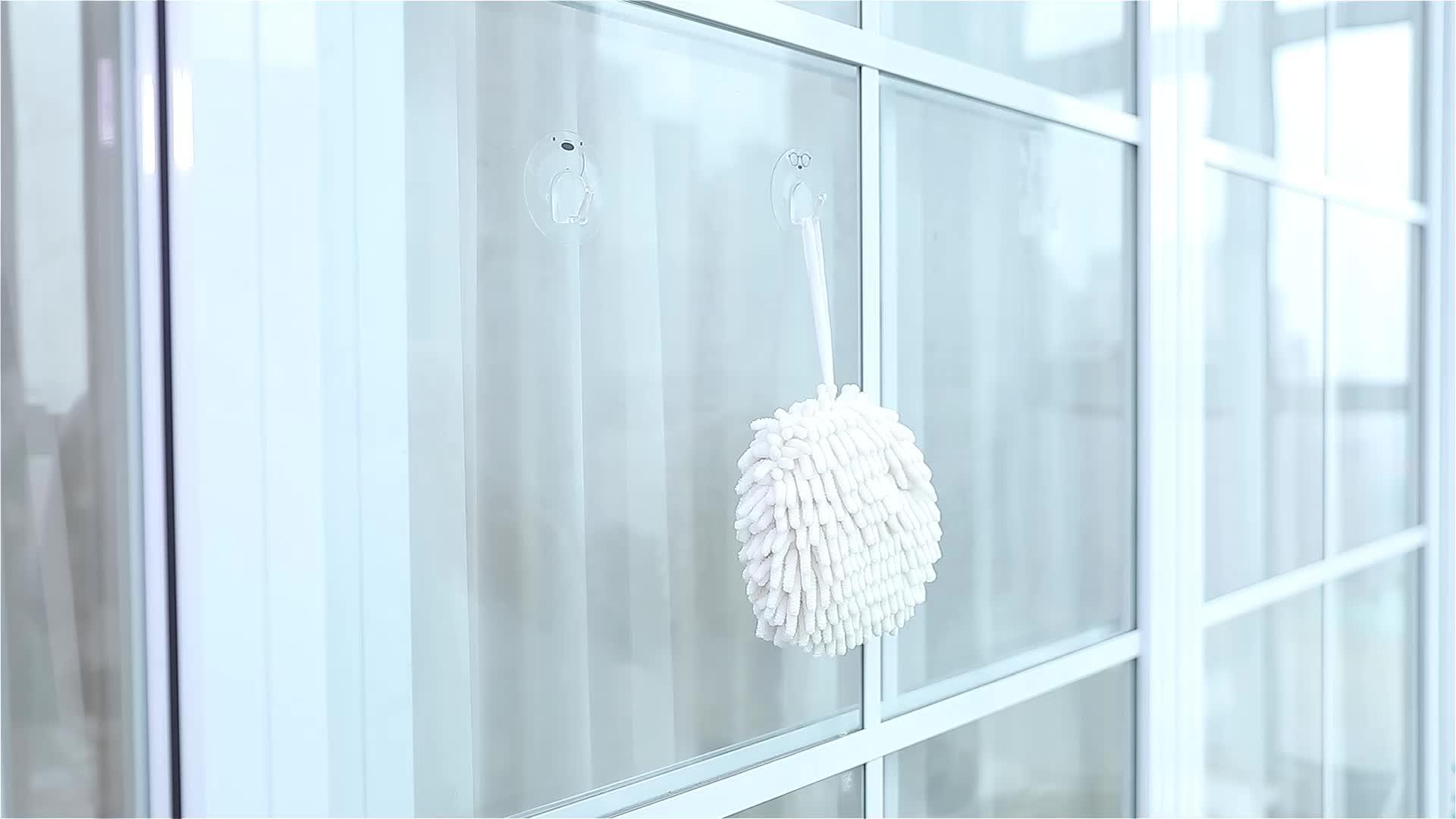 Fasola रसोई फांसी तौलिया गेंद के आकार सेनील हाथ चेहरा तौलिये बाथरूम शोषक तौलिया