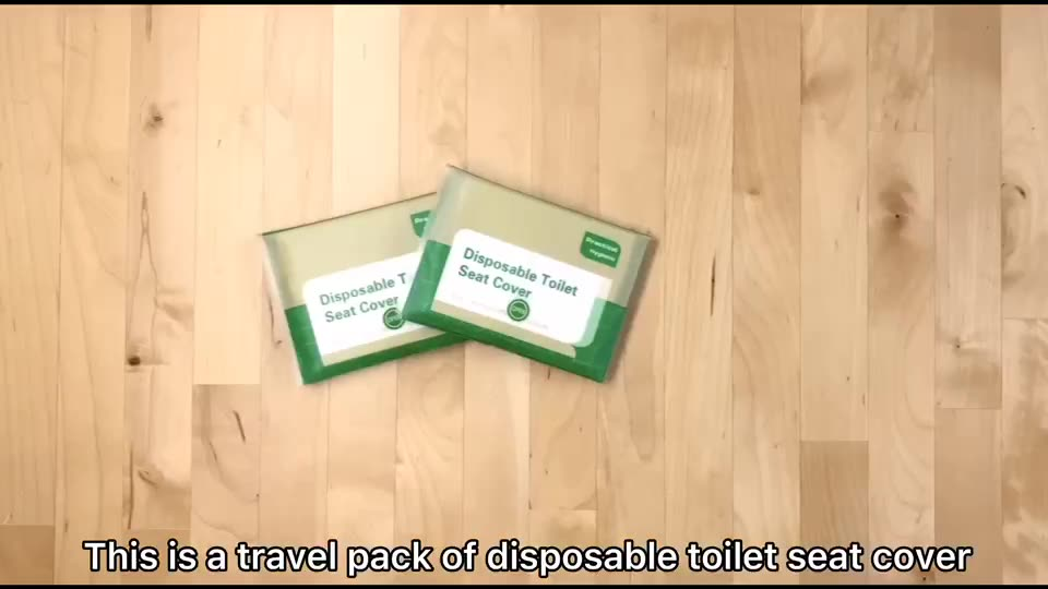 Soluble water Track Pack Biodegradable Toilet Seat Paper Covers 10 Packs