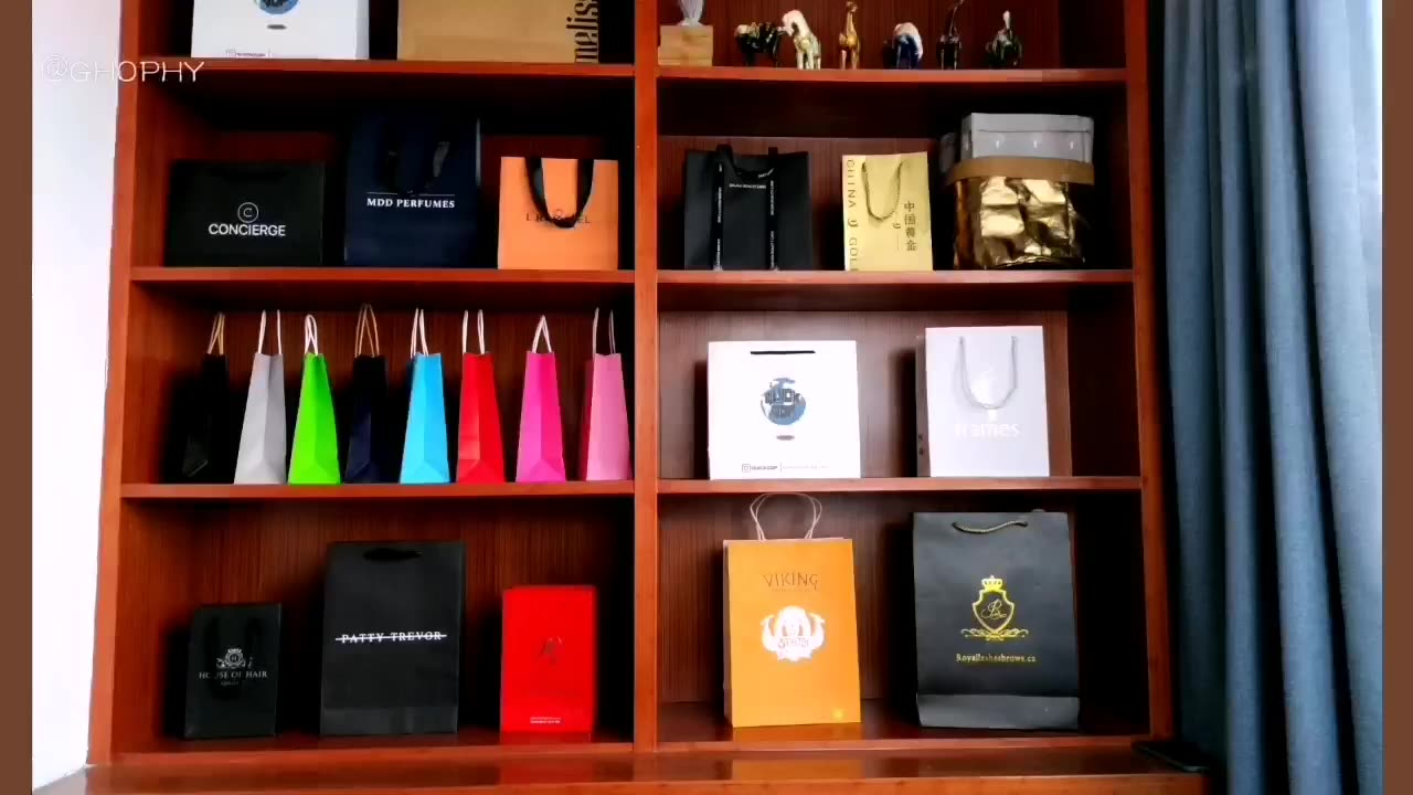 Custom Recyclable Packaging Shopping Paper Bag With print Logo