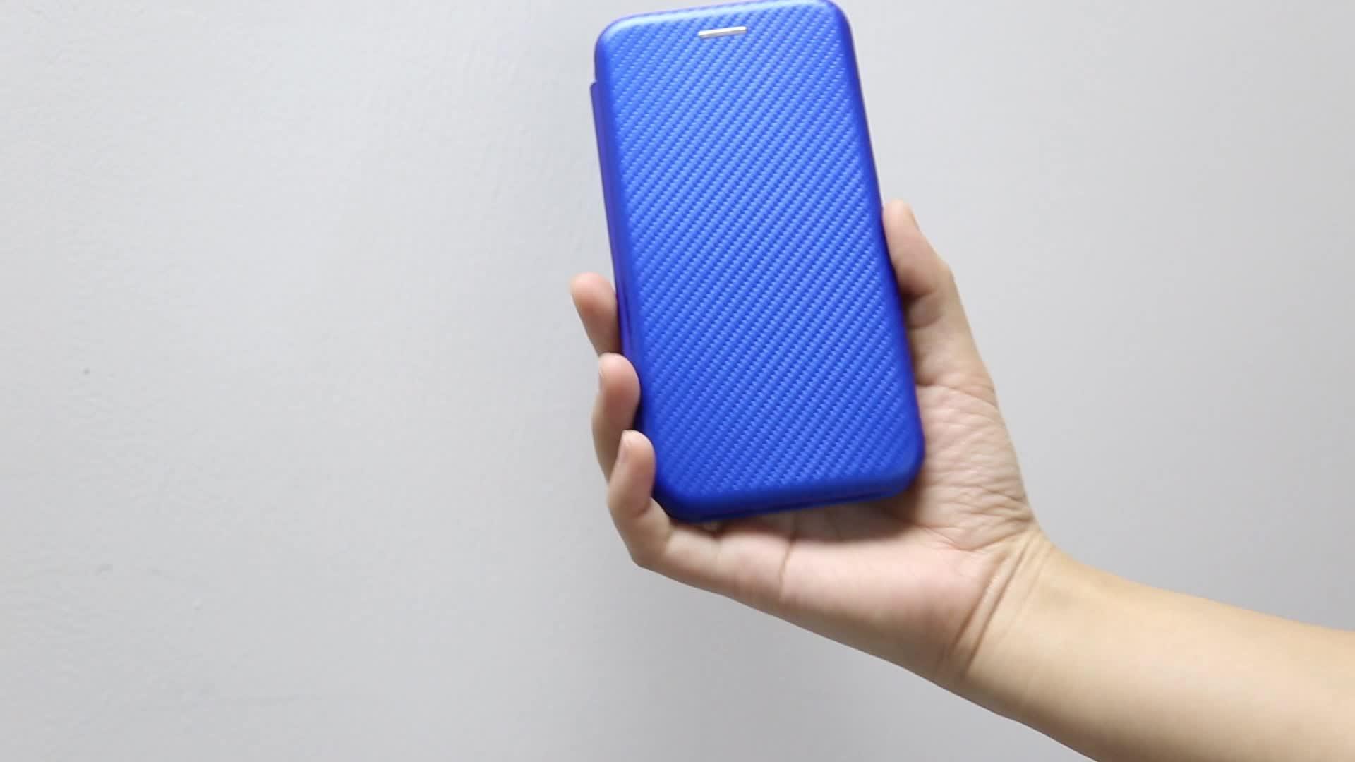 Livro Caso inteligente Faixa De Fibra De Carbono Acessórios de Telefone Celular com Suporte de Cartão para alcatel 3L 3 2019 1s 1x 1c Tetra 7 5v 5 3v 3x3