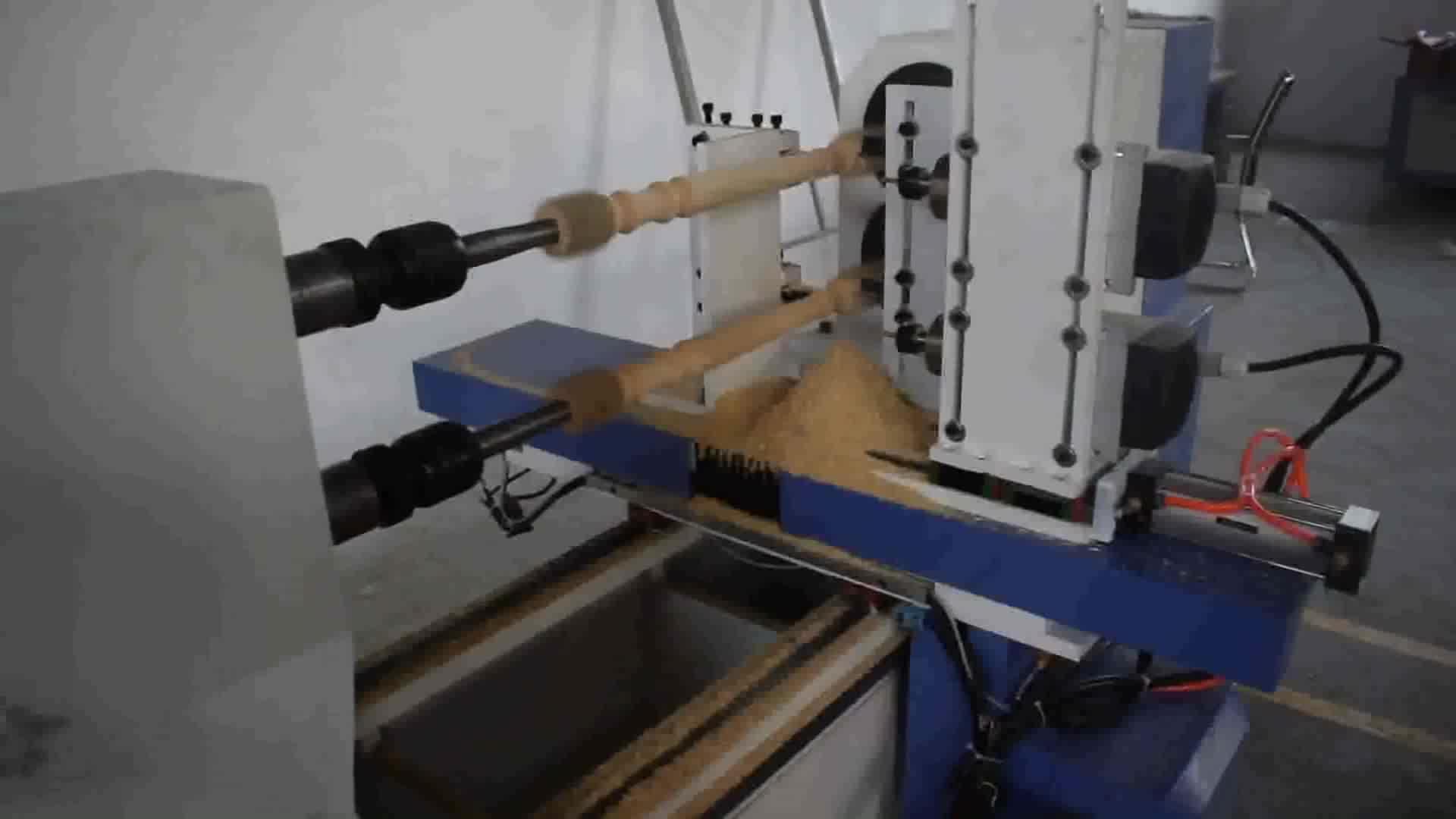 गर्म बिक्री नई चीन लकड़ी मोड़ स्वचालित सीएनसी लकड़ी खराद मशीन