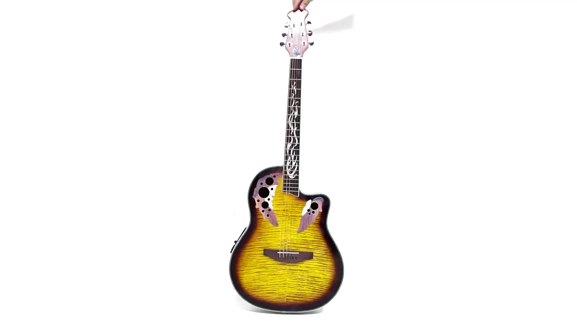 high quality round back ovation style electric acoustic guitar kit for sale buy electric. Black Bedroom Furniture Sets. Home Design Ideas