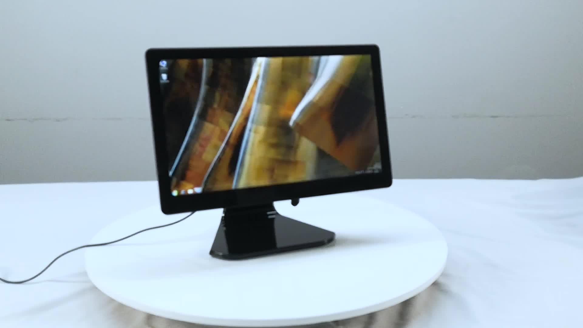 Windows デスクトップ pos 機 15.6 インチデュアルスクリーンタッチ pos 端末小売