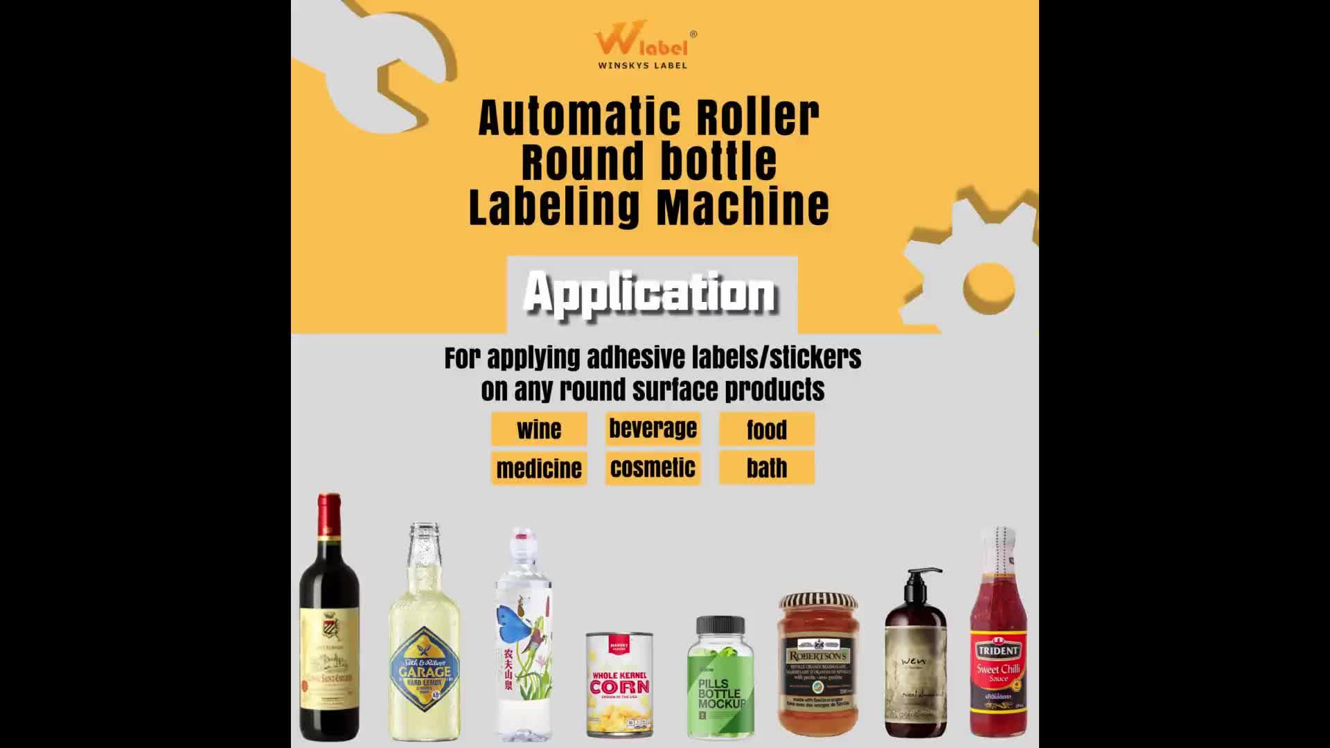 Máquina de etiquetas automática redonda de alta velocidade das etiquetas da garrafa do envoltório para a bebida do alimento