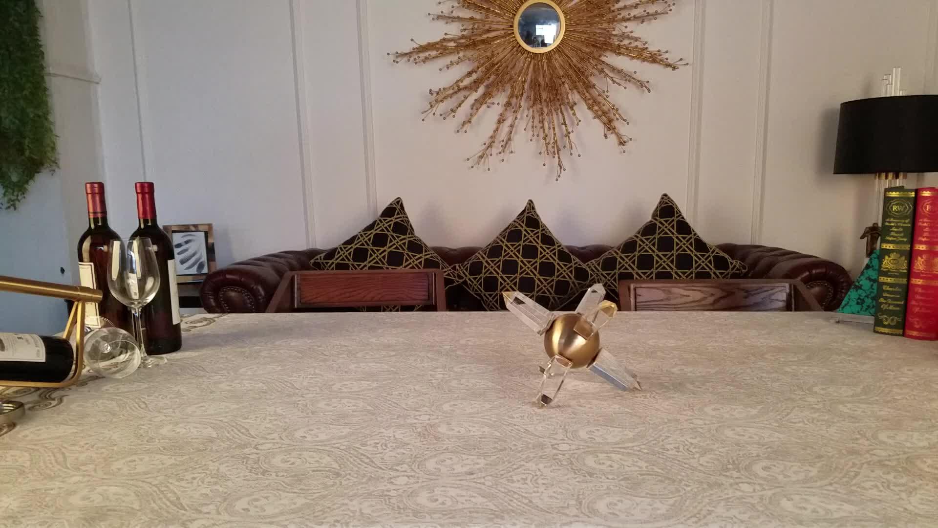 Traditional home decor crystal ball desktop decor brass home decor
