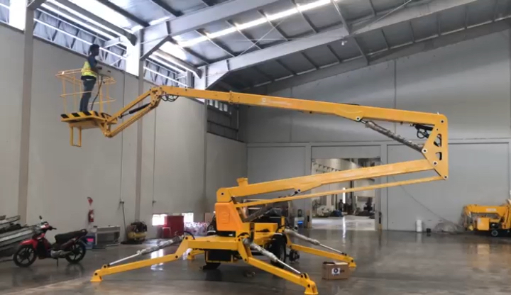 6-18m pick up truck articulated telescopic work platform for aerial work